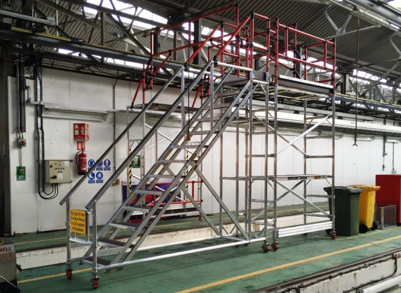 Train Roof Access Platform