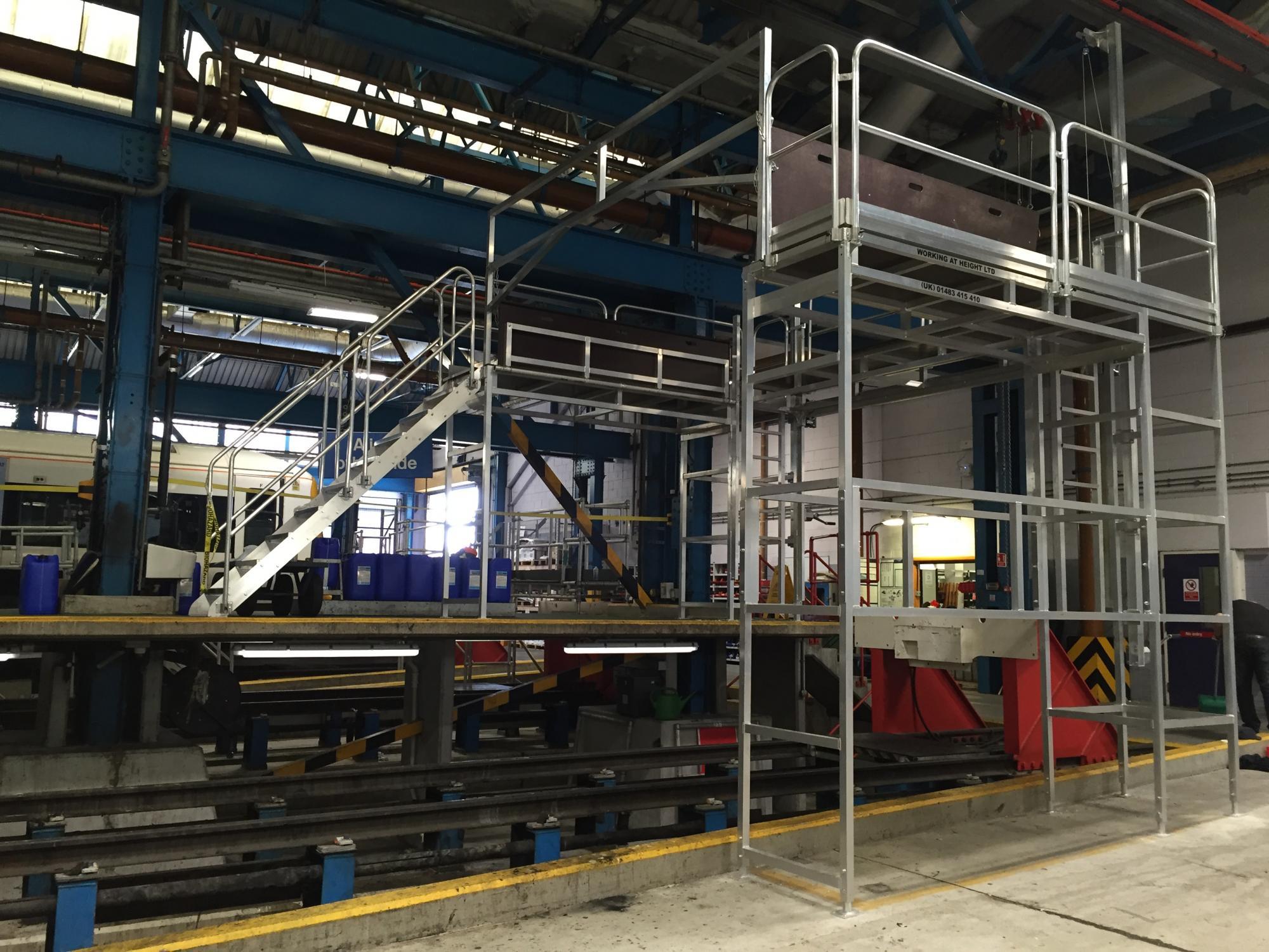 Traincare Depot Acesss Platform Working At Height
