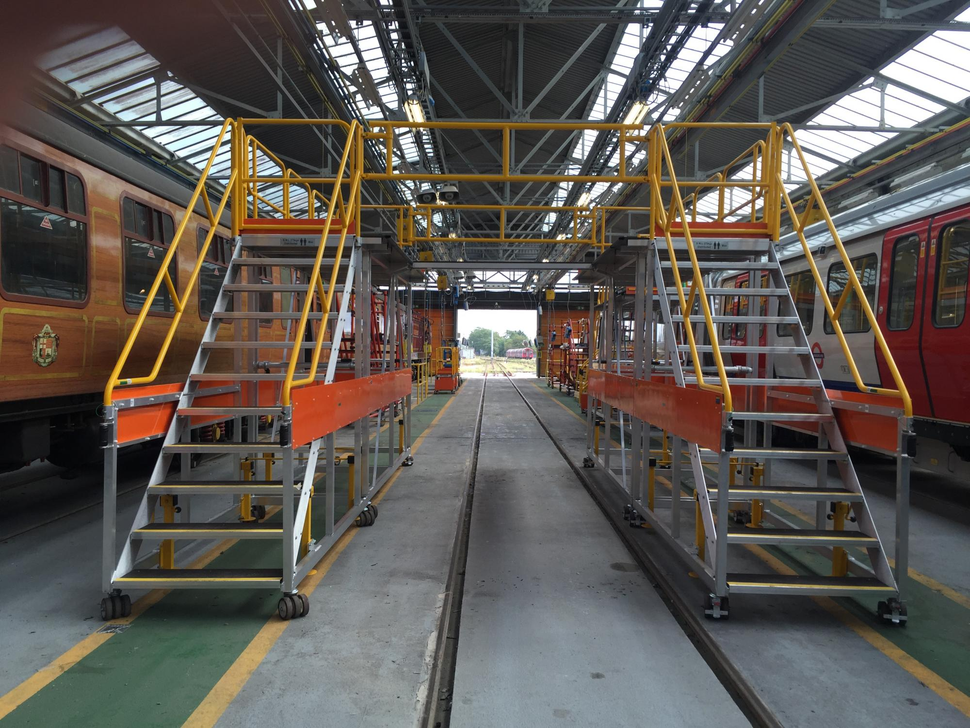Bespoke Train Roof Access Platforms Working At Height