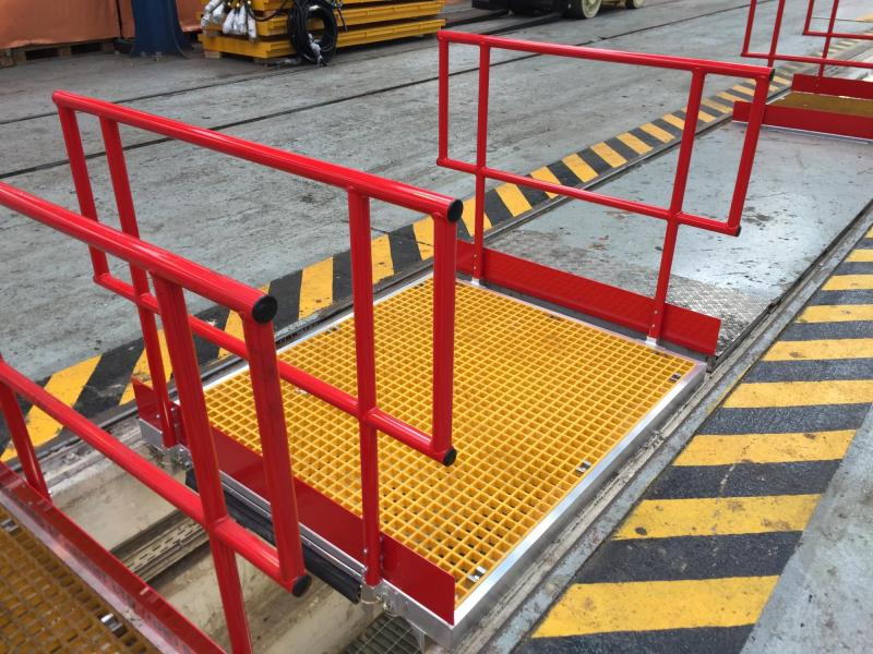 Traincare Depot Pit Crossing Boards and Work Platforms