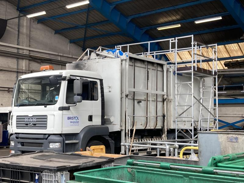 Waste Vehicle Roof Access Platform