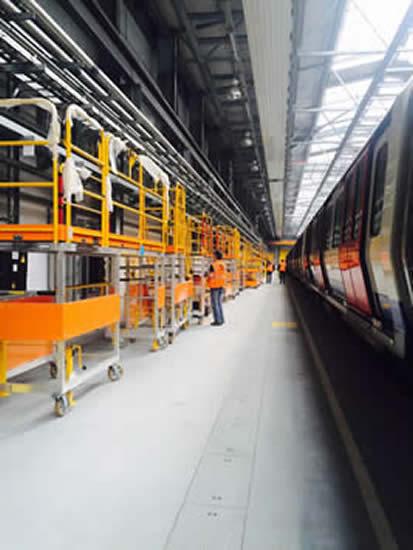 Train access platforms as far as the eye can see!